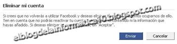 Desactivar y eliminar cuenta de Facebook