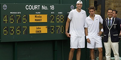 Partido Wimbledon Isner y Mahut