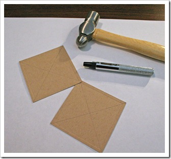 Draw lines and anywhere hole punch for threading ribbon