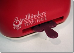 Presto Punch book all the way in slot