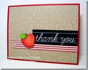 Lori Tecler Teacher Thanks