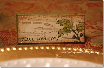Music Place Card