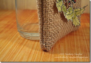 Burlap Bag CU side seam