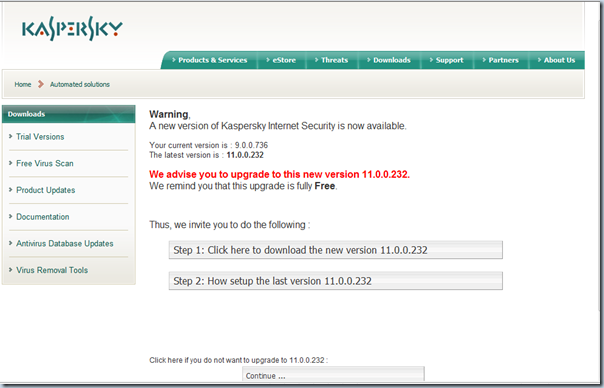 Kaspersky Internet Security 2011 web