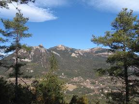 Cim d'Estela, Roc d'Uró i Rasos de Peguera. Espinalbet al fons