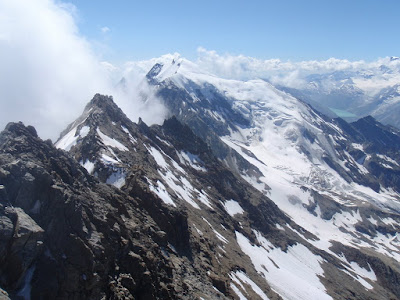 Cresta entre el Lagginhorn i el Weismies