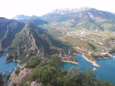 Vista sobre Sant Llorenç de Morunys i el Port del Comte