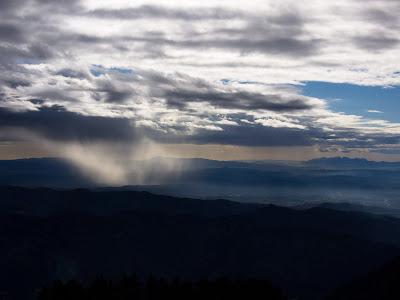 Cortina de precipitació cap al sud