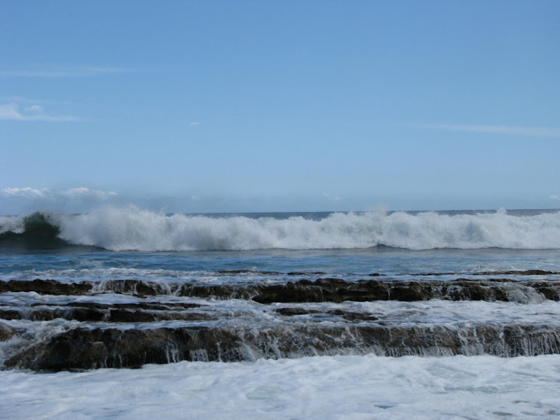 Waves on the rocks at Salt Pond