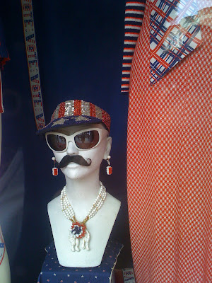 San Francisco, in the Haight, mustachioed manequin