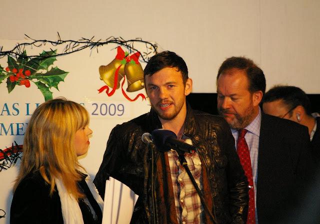 Andy Lee turning on Limericks Christmas Lights
