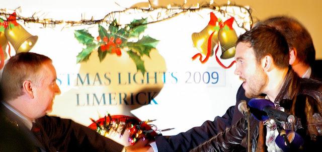 Andy Lee turns on Limericks Christmas Lights