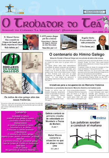 O trobador do Tea nº 2. Abril 2008. Terceiro premio de Galicia