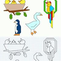 Dibujos En Hojas Cuadriculadas