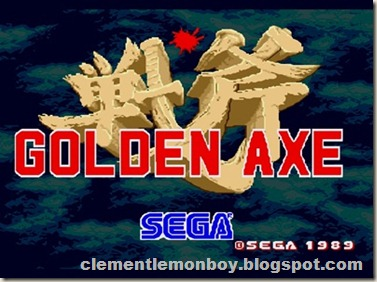 Golden Axe Start Menu