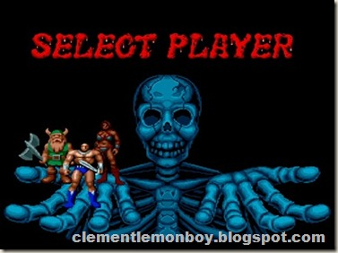 Golden Axe Player Selection