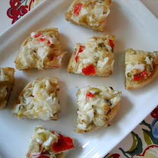 Artichoke and Crab Toasts