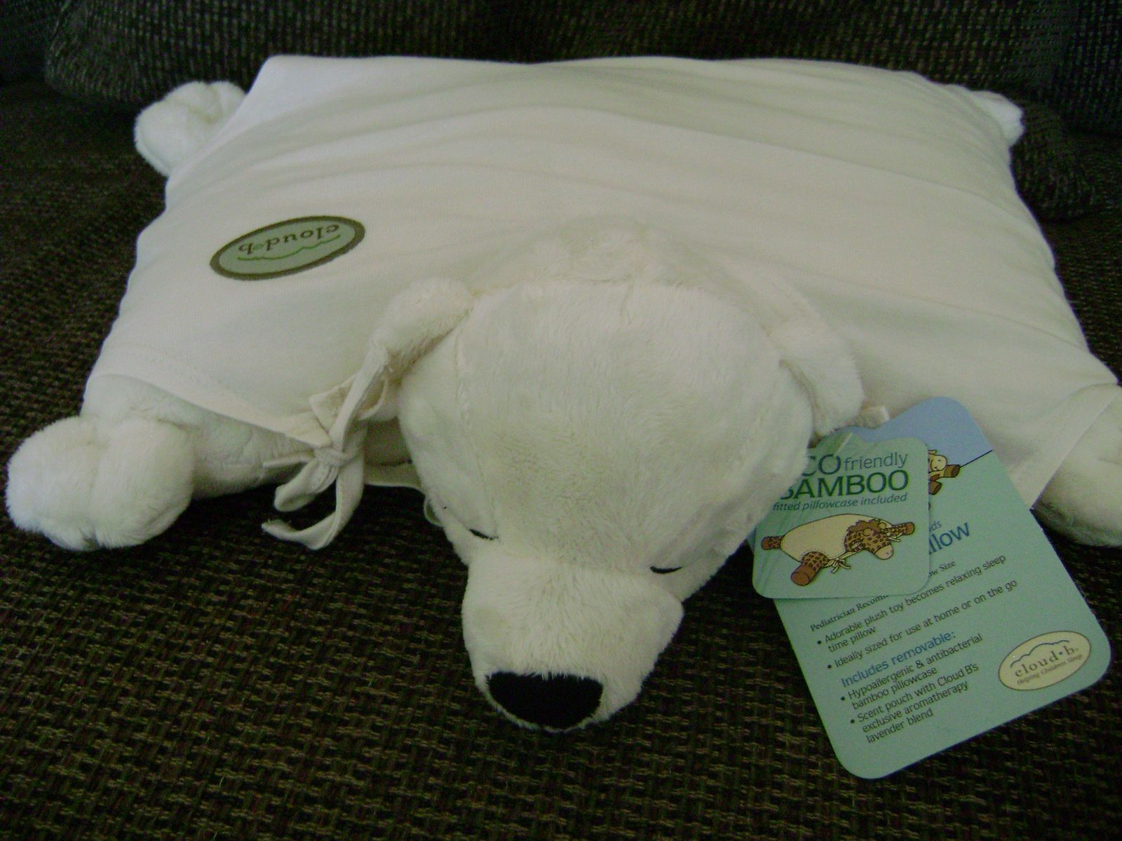 Aromatherapy Animal Pillow : Review: Cloud B Armotherapy Polar Cuddle Cub Pillow