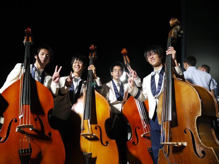 Members of Anjo Gakuen High School Orchestra