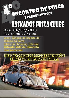 4º Encontro de Fuscas e Carros Antingos Laskados Fusca Clube 04/07/10 Folheto_4_encontro