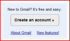 create an account with Gmail