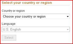 choose country