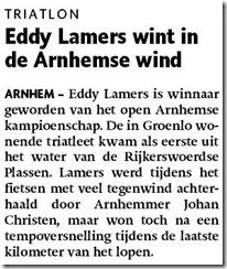 Eddy Lamers wint in Arnhemse wind