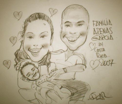 familias - DIBUJOS ....de EDGAR MORENO M.