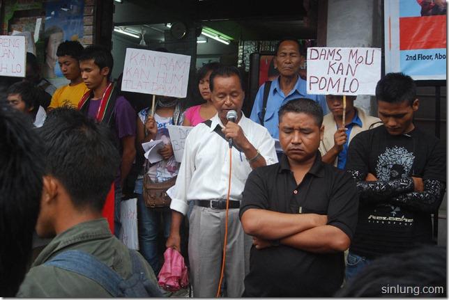 SHDC Mizoram Anti Dam Protest 1