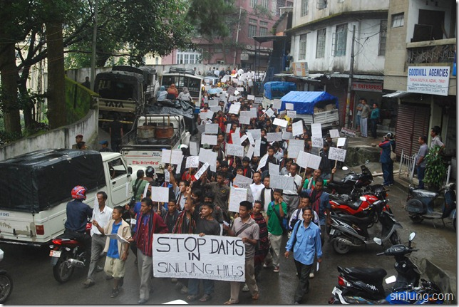 SHDC Mizoram Anti Dam Protest 10