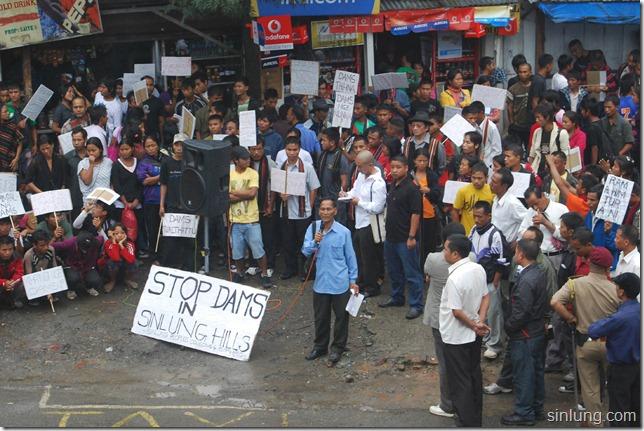 SHDC Mizoram Anti Dam Protest 11