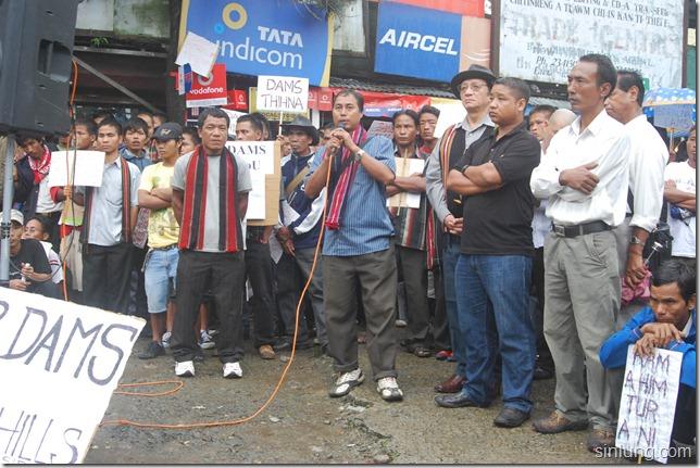 SHDC Mizoram Anti Dam Protest 13