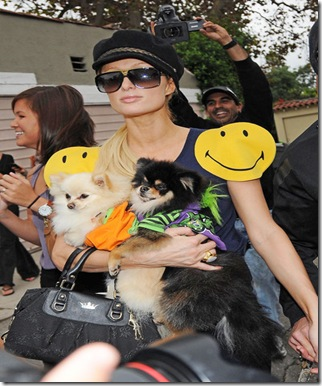 Paris Hilton wearing smiley face dress shops vwmXXteoKbLl