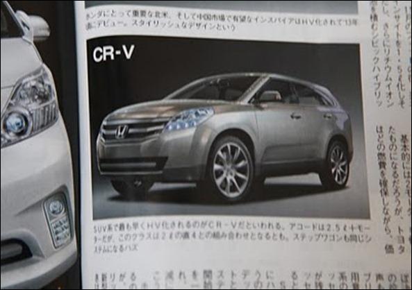 Surge suposta imagem da próxima geração do Honda CRV