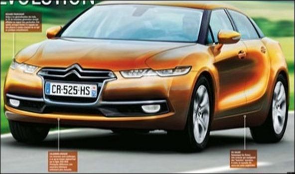 Revista francesa antecipa o Novo Citroën C5 2013