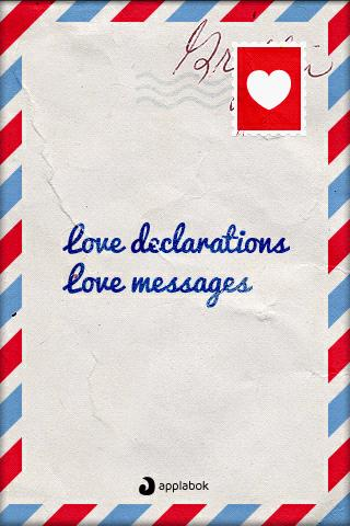【免費娛樂App】Love declarations and messages-APP點子