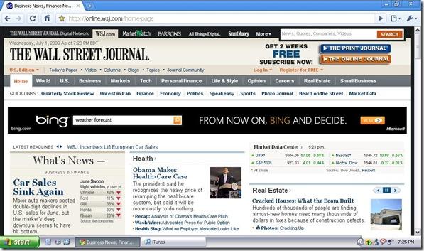 WSJ Bing Ad 7.1.2009