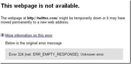 Twitter Error 8-6-09