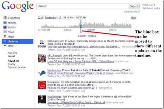 Google Realtime Timeline