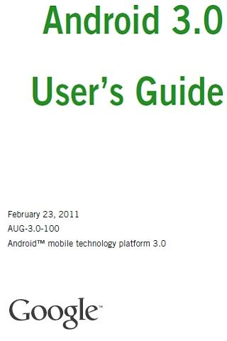 Tablet Manual for Android 3