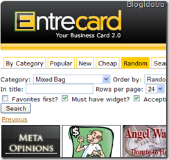 Entrecard caption