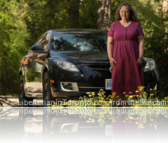 Madeline Leonard and her Mazda