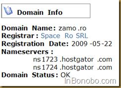 domeniul zamo.ro inregistrat