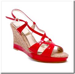 chaussures compensées Elite rouges