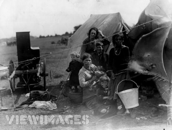 Romany encampment