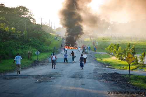 Cane Farmers Protest in front of Belize Sugar Industries, Orange Walk Town, Belize