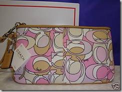 Signature Multi Print Wristlet - Pink