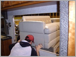 2-Sofa placed on forklift