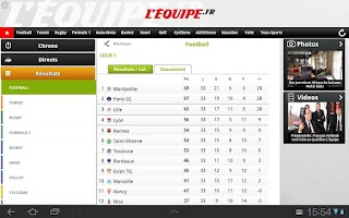 Screenshot of L'Équipe.fr Tab