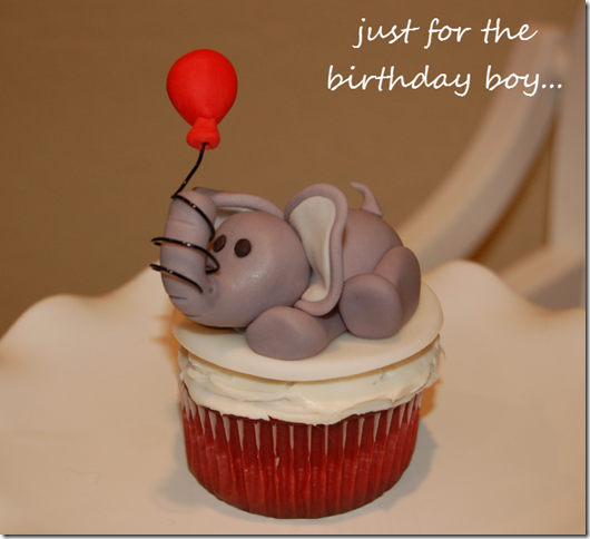 elephant birthday cupcake topper